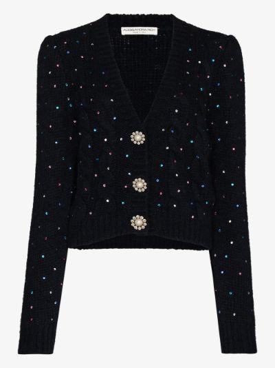embellished cropped cardigan