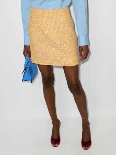 sequin tweed mini skirt