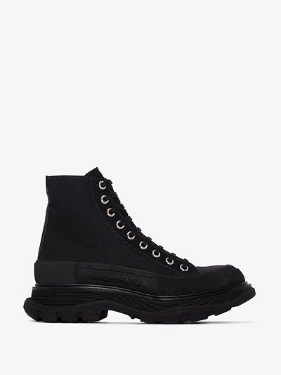 black and white Tread Slick boots