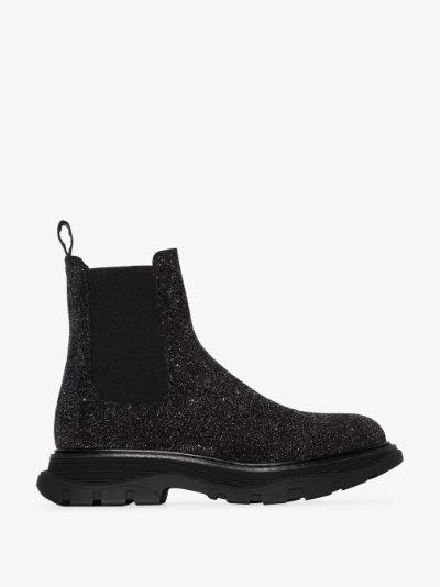 Black Galaxy Chelsea Boots
