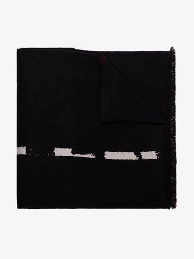 black graffiti wool scarf
