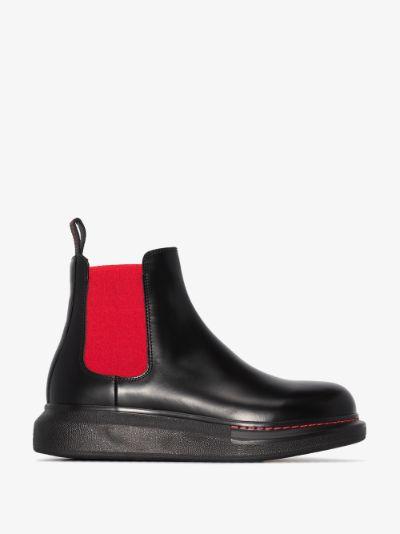 black Hybrid chelsea boots