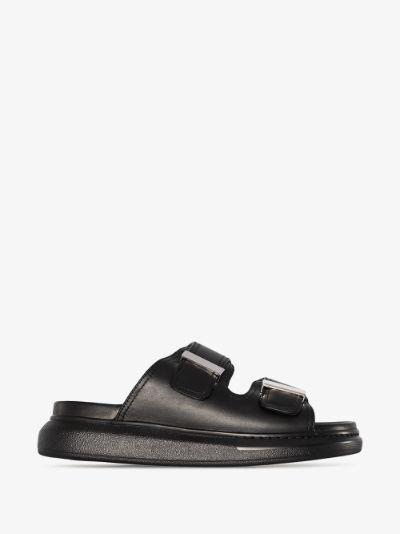 black Hybrid leather sandals