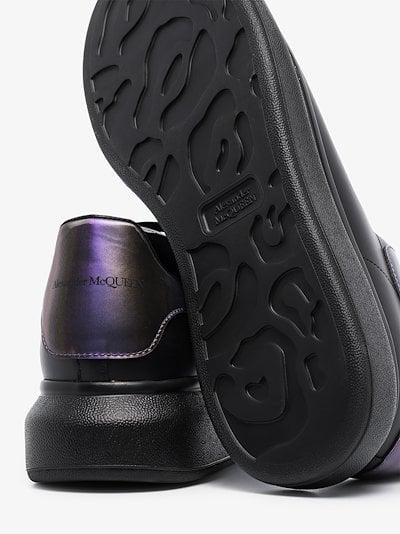 black iridescent oversized sneakers