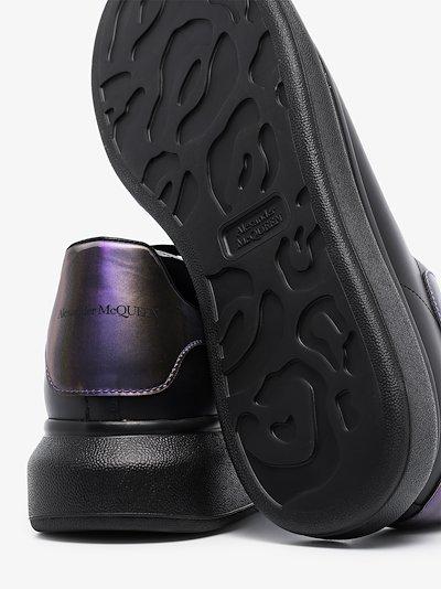 black oversized iridescent sneakers