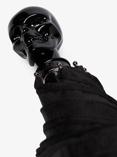 Black selvedge skull umbrella