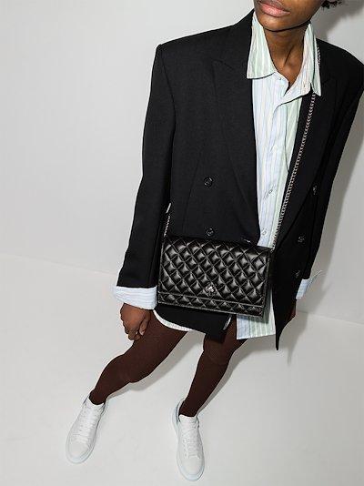 Black Skull medium leather shoulder bag
