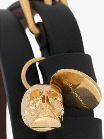 Black Skull Wrap Leather Bracelet