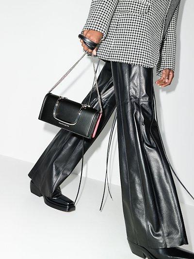 black Story Book leather cross body bag