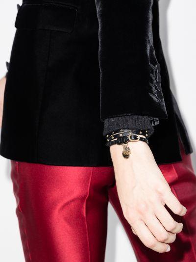 black studded skull wrap bracelet