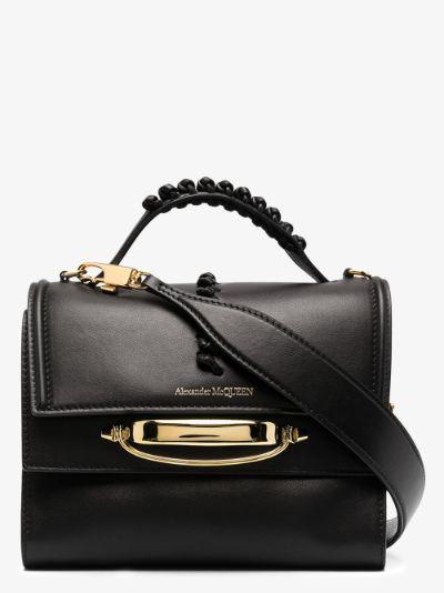 black The Story leather shoulder bag