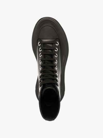 black Tread Slick lace-up boots