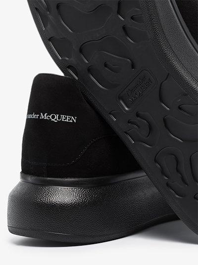 black velvet effect oversized sneakers