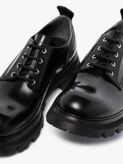 Black Wander Chunky Leather Brogues