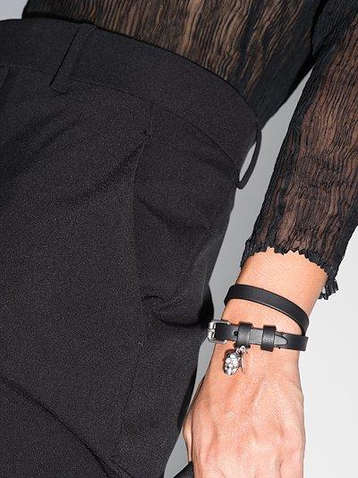 black wrapped leather bracelet