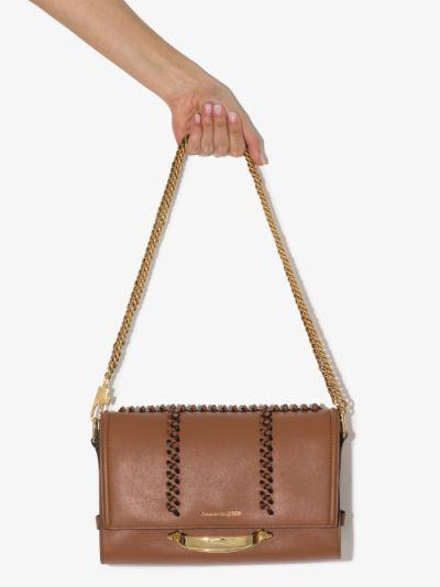 brown The Story leather shoulder bag