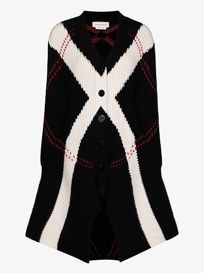 chunky knit wool cardigan