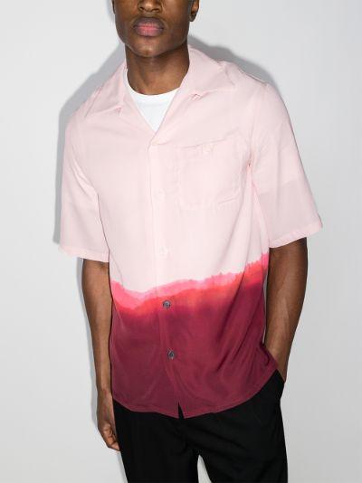 dip-dye printed shirt