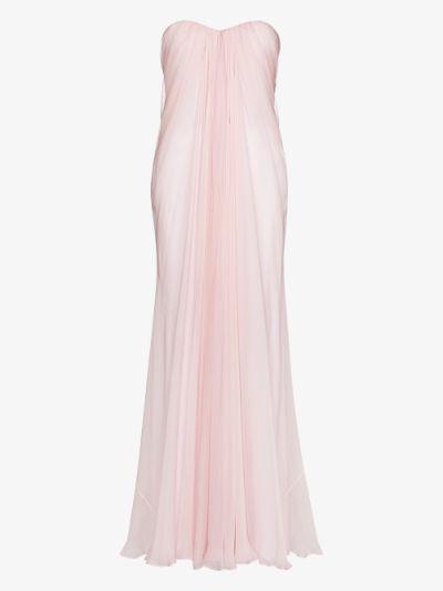 Draped silk Gown