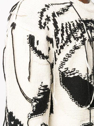 Exploded Skull intarsia sweater