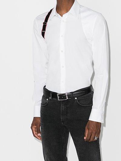 harness buckle shirt