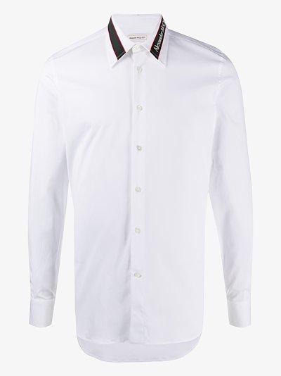logo collar shirt