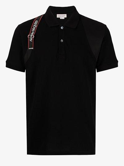 logo harness polo shirt