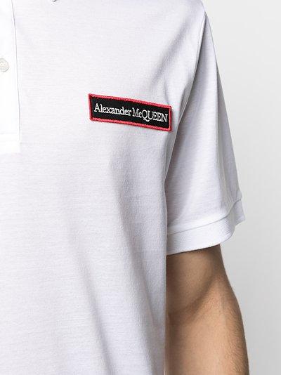 logo patch cotton polo shirt