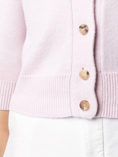 low shoulder cashmere cardigan