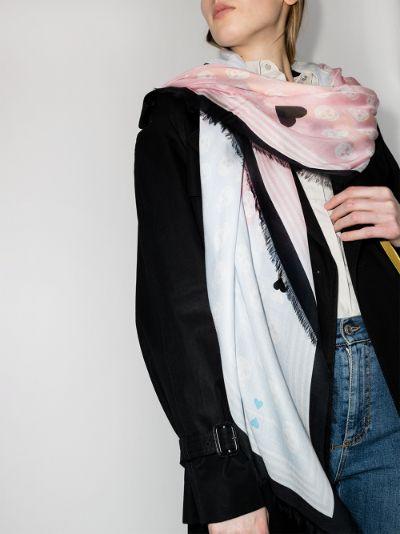 multicoloured Football Biker scarf