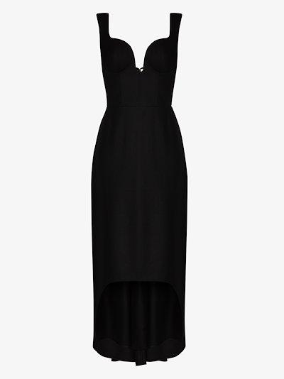 Oxbridge Flannel Sweetheart Neck Dress