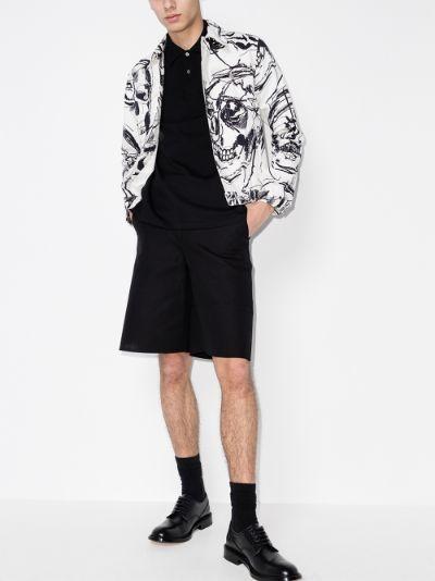 skull motif polo shirt