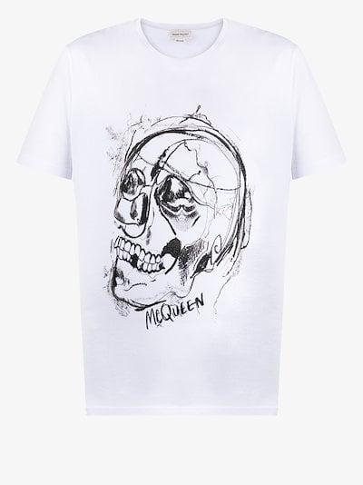 Skull print cotton T-shirt