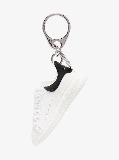 white and black Oversized sneaker keyring