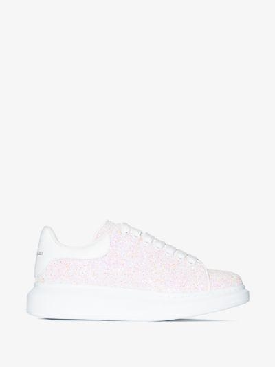 white glitter Oversized sneakers