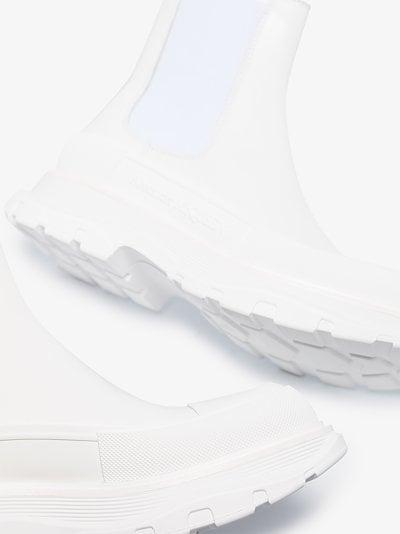 white tread slick chelsea boots