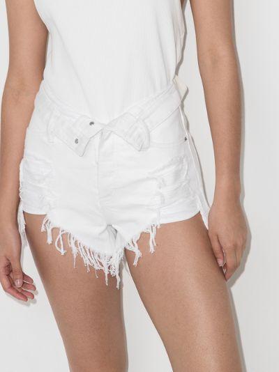 Bite Flip distressed denim shorts