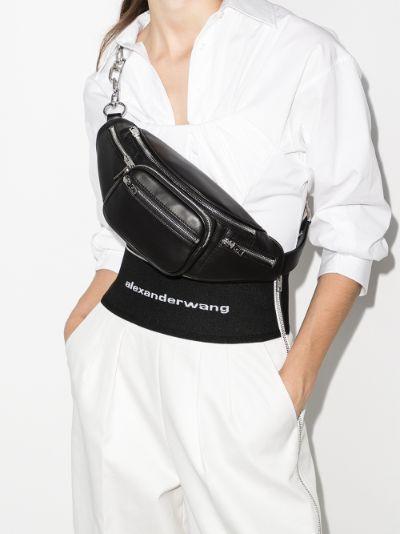 black Attica leather cross body bag