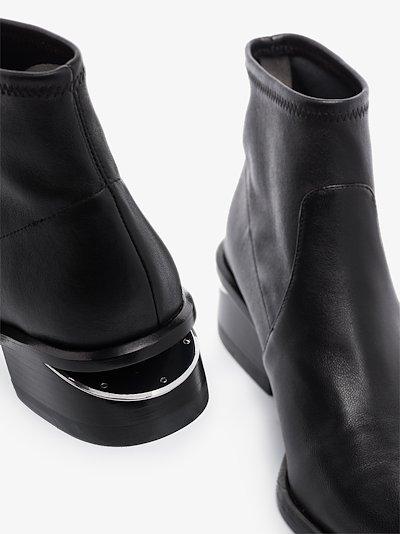 Black Kori 45 leather ankle boots