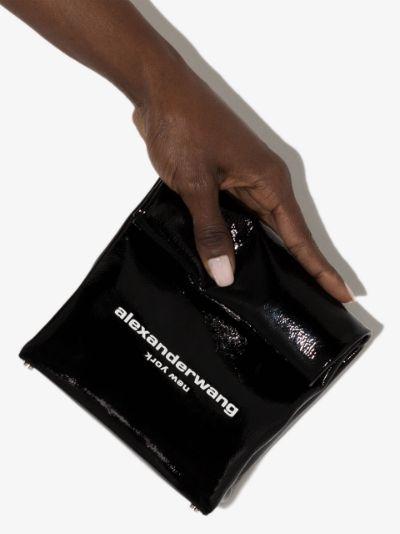black Lunch leather clutch bag