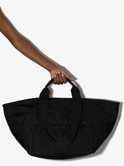 black Primal large tote bag