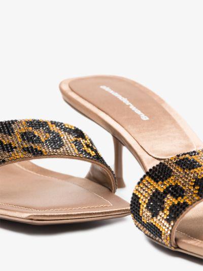 Brown Jessie 55 leopard sandals