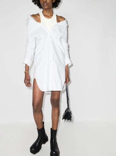 layered shirt dress