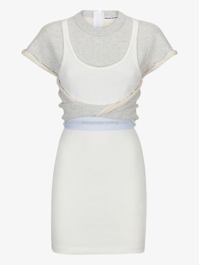 layered T-shirt mini dress