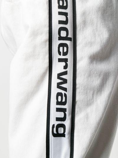 logo stripe cotton track pants