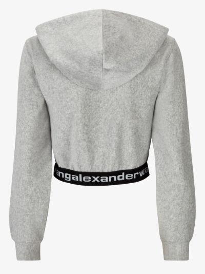 logo waistband hoodie