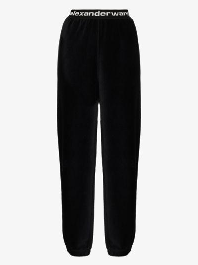 stretch corduroy track pants