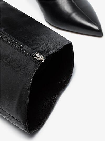 black Alex 90 leather boots
