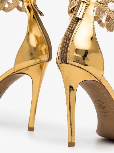 gold Elsa 100 chain strap leather sandals