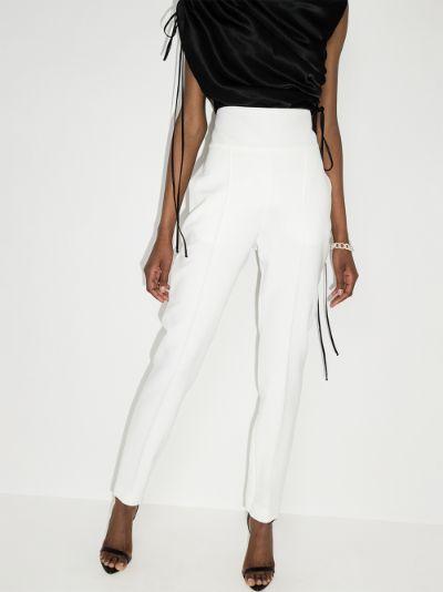 high waist tuxedo trousers